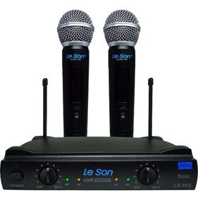 Microfone Sem Fio Duplo Uhf - Leson Ls 902 Ht/ht Original