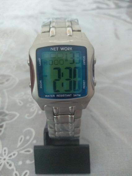 Relógio Feminino Digital Prata Barato