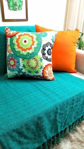 Kit 2 Capas Almofadas Belize Colors + Manta