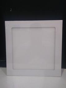 Kit 05 Luminaria Painel Plafon Led 18w Embutir Frio Quadrado