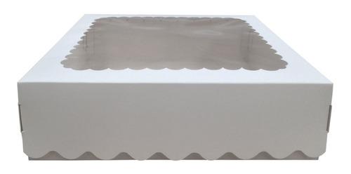 Caja Para Desayuno O Torta 24x24x7 Con Visor X24u