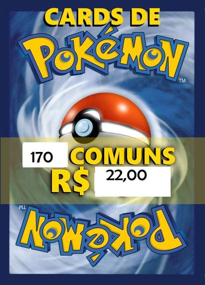 Bulk Pokémon 170 Cartas Coleções Variadas