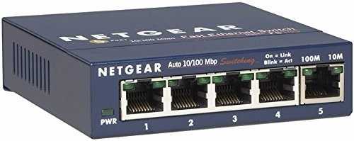 Netgear Fs105na 5port Gigabit Ethernet Network Switch