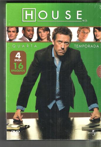 Box 4 Dvds - House - Quarta Temporada Completa
