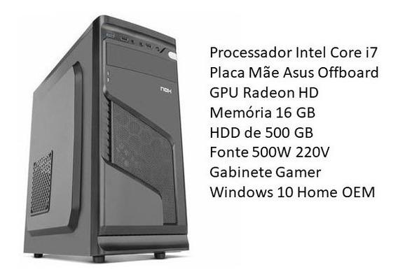 Core I7, Radeon Xfx, Asus Offboard, 16 Gb Ram, Hd 500 Win 10