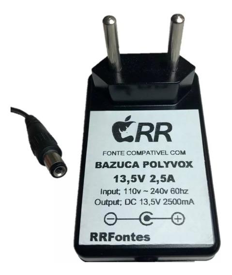 Fonte Carregador 13,5v Para Bazuka Polivox Xb 860 Xb860