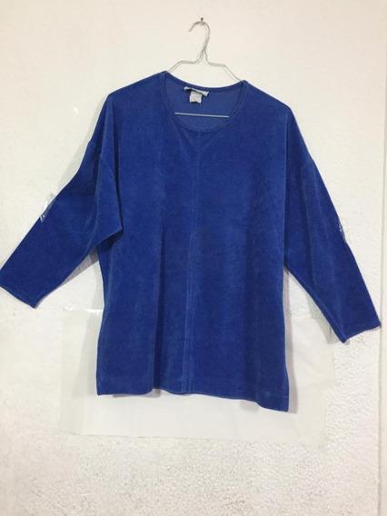 Sueter Camisa Blusa Manga Larga Gamuza - Talla L B503 (5)