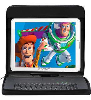 Tablet Gadnic 7 Pulgadas Con Chip Celular Dual Sim 3g + Funda Con Teclado