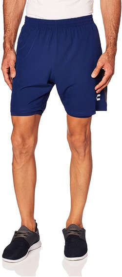 Charly Workout Short Deportivo 2 En 1 Azul L