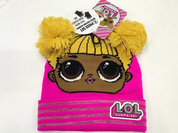 Gorro Para El Frio Lol Bee Queen Rosa Guantes Smarth Phone