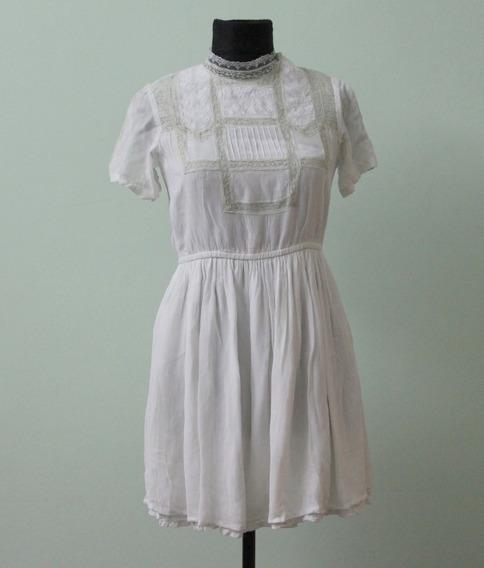 Vestido Estilo Romantico Bordado Casamiento Bautismo Topshop