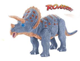 Dinossauro Triceratops Anda E Emite Som Com Luz