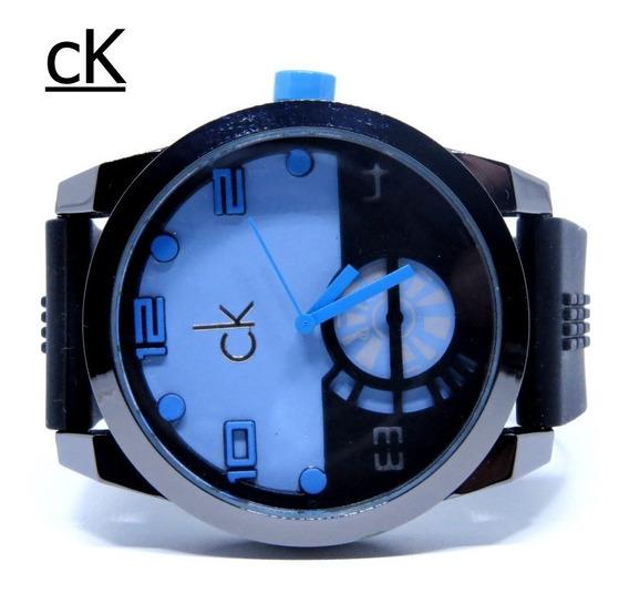 Relógio Zeus Venon Azul Ck Masculino Grande Original Barato