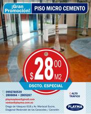 Piso Microcemento, Decorativo $28,00 / 2806664 Quito