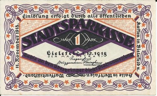 Imagen 1 de 2 de Alemania 1 Marco 1918