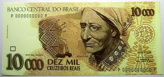 Brasil Rendeira Billete 10000 Cruzeiros Reais Año 1993 Copia