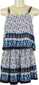 Vestido Curto Feminino Com Babado Soltinho Fresco Estampado