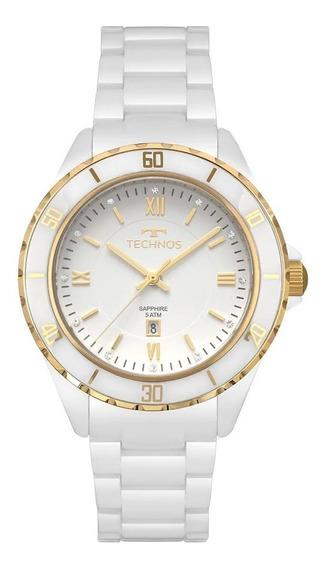 Relógio Technos 2015cap/4b Ceramica Branca Original