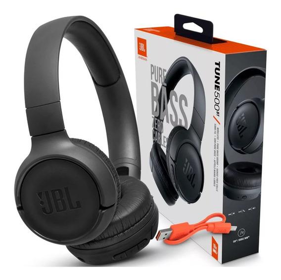 Fone De Ouvido Bluetooth Jbl Sem Fio Tune 500bt + Nf-e