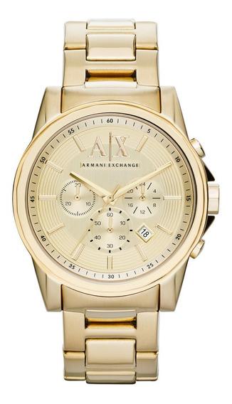 Relógio Armani Exchange Cronógrafo Ax2099/4dn Dourado