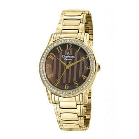 Relógio Champion Feminino Dourado 50 Metros Ch24740r