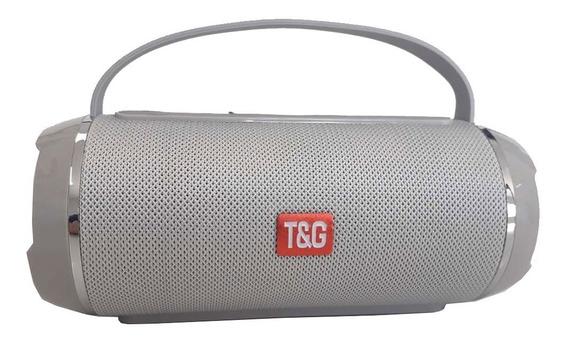 Caixa De Som Bluetooth Portátil Usb P2 Sd Com Alça Tg-116c