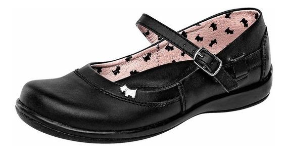 Zapato Escolar Niña Ferrioni R2413ng Negro Piel 22-26 T4