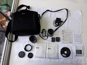 Câmera Sony Nex-5r+lente Sony Sel55-210mm