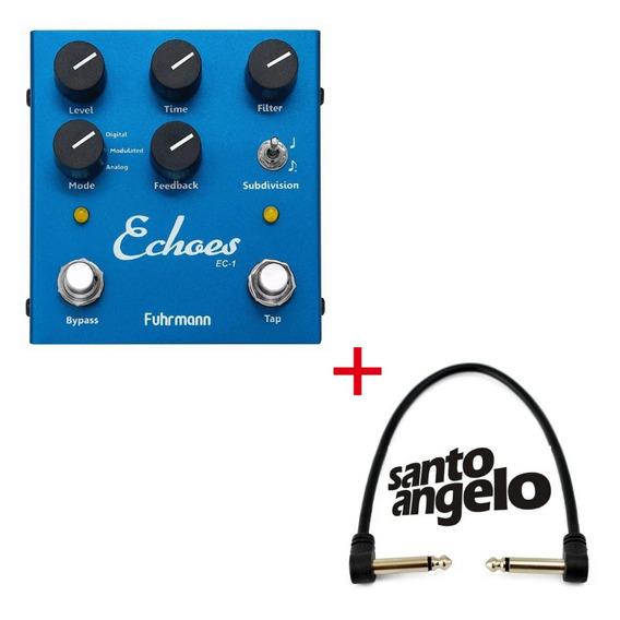 Pedal Fuhrmann Echoes Tap Delay Guitarra Violão + Cabo P10