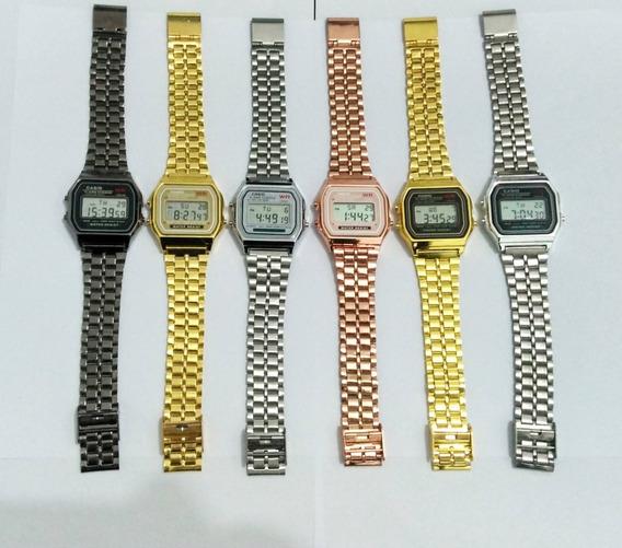 Kit Com 2 Relógios Casio Vintage Unissex Atacado!