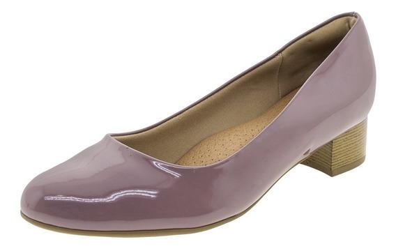 Sapato Feminino Salto Baixo Roxo Piccadilly - 140110