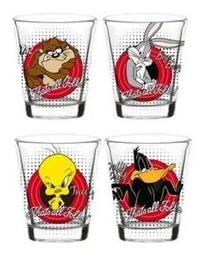 Imagem 1 de 5 de Jogo De Copos Vidro Looney Tunes Drink Shot