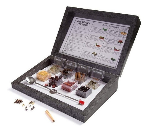 Kit Gin Tônica Perfeito Bombay Herbs & Spices 8 Especiarias
