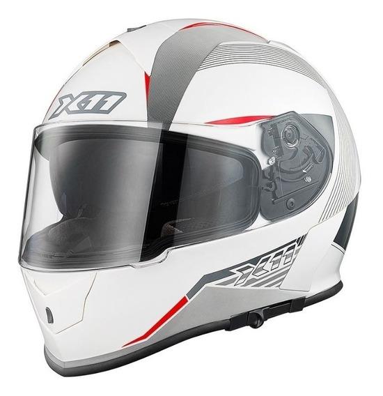 Capacete X11 Revo - 62 - Branco