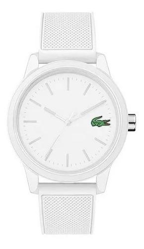 Relógio Lacoste Masculino Esportivo Branco Original Borracha