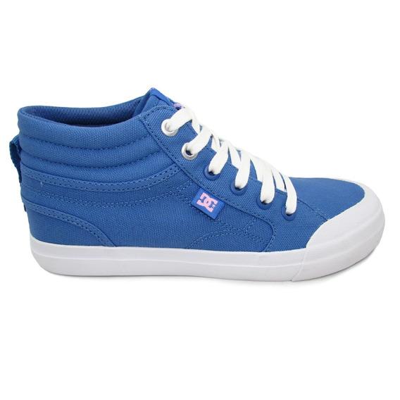 Tenis Dc Shoes Evan Hi Tx Youth Adgs300055 Bwt Blue White