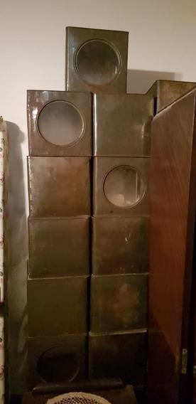 Latas De Galletitas Antiguas Sin Estampar (cajas)