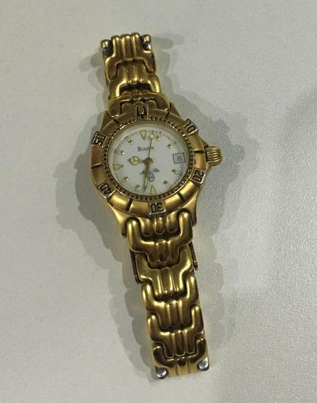 Relógio Bulova Marine Star Banhado A Ouro