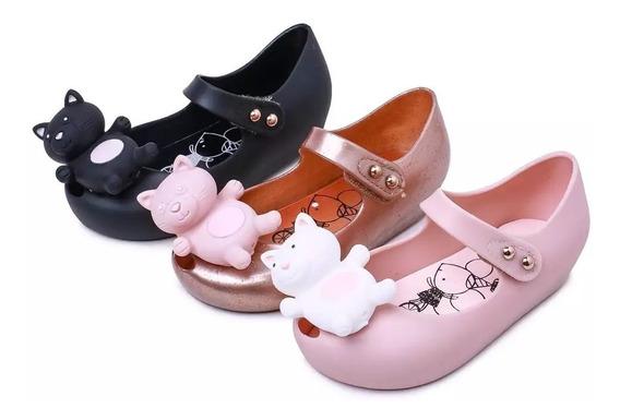 Zapatos Niña Mini Melissa Gatito 13 A 18 Cm