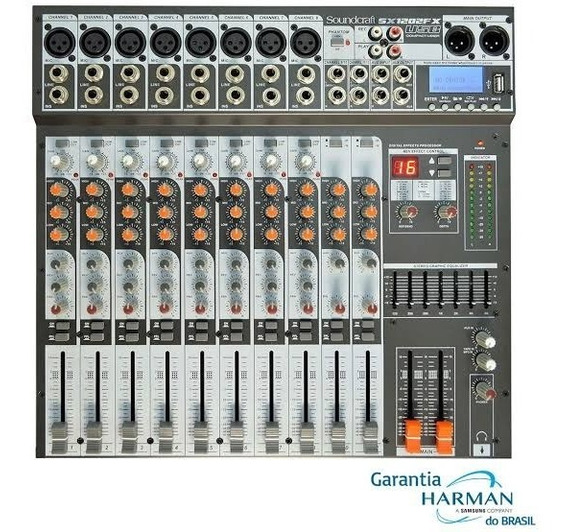 Mesa Som Soundcraft Sx1202usb 12 Canais - Loja Garantia