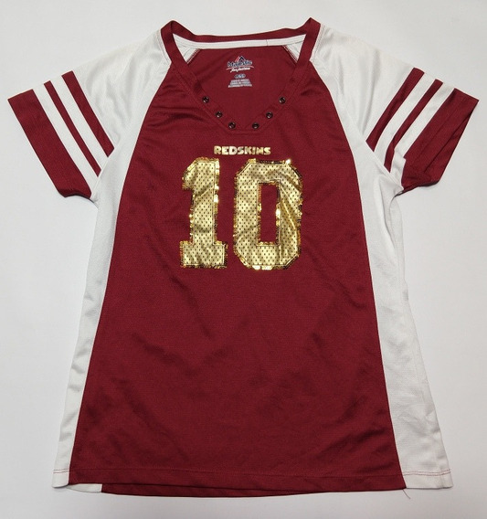 Remera Washington Redskins Majestic Talle L Woman Griffin 3