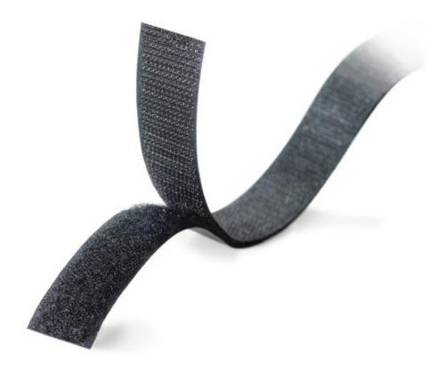 Imagen 1 de 9 de Abrojo Velcro Autoadhesivo Para Telas Rollo 60,9 X 1,9 Cm