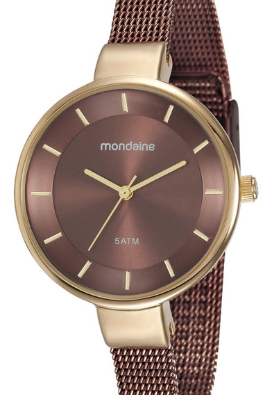 Relógio Mondaine Feminino Marrom 76597lpmvae5