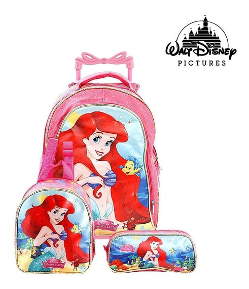 Kit Mochila Infantil Rodinha Princesas Exclusivo Top