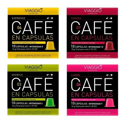 Cápsulas Café Para Nespresso - Pack 120 Viaggio Espresso