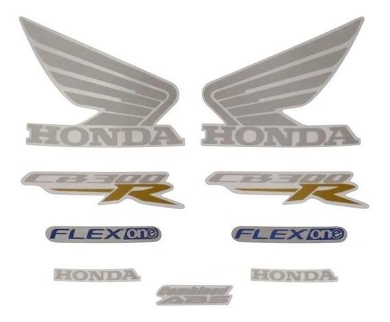 Kit Adesivo Jogo Faixas Moto Honda Cb 300r 2015 Preta