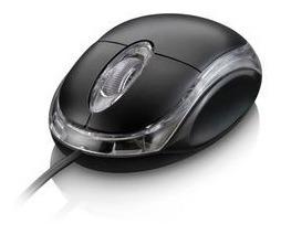 Mouse Optico Preto Com Conexao Usb