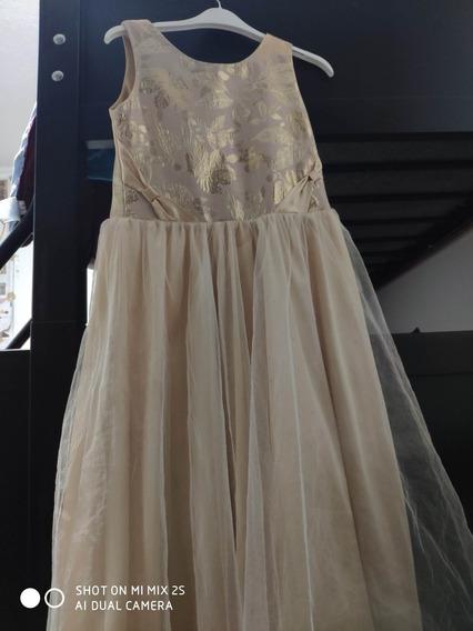 Vestido De Liverpool Beige Niña Talla 8-10