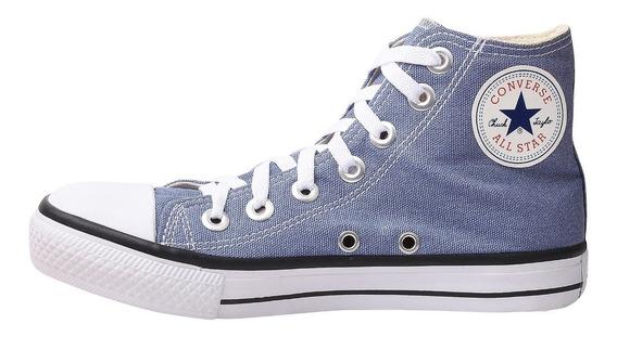 Tênis Converse All Star Chuck Taylor Cano Alto Azul Jeans