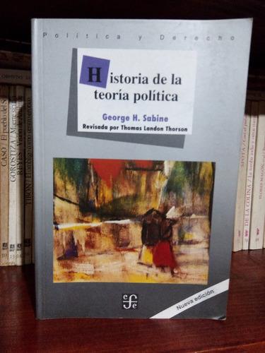 Historia De La Teoría Política George Sabine Fce